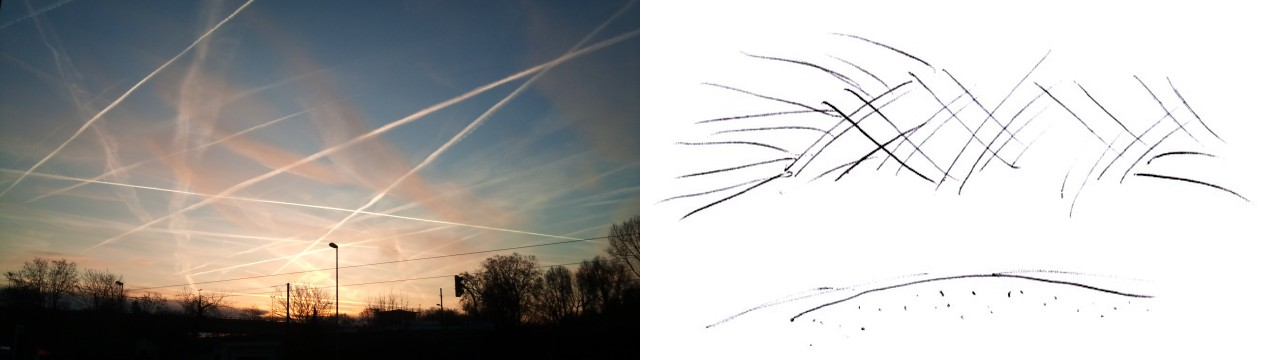 Trails am Himmel