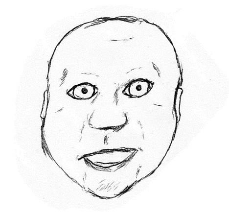 Ebenfalls sehr menschenähnliche Person aus dem zuvor genannten Team, aber mit pink-blauer Haut, sehr platter Nase und seltsamen Augen.