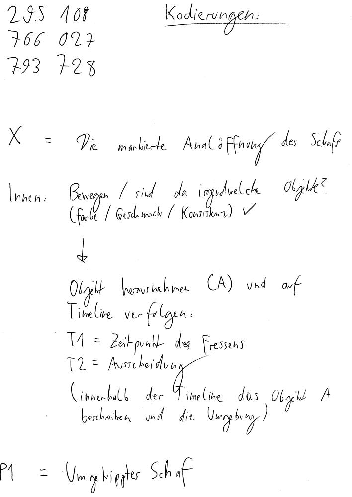 Schafsperistaltik - Kod(t)ierungen