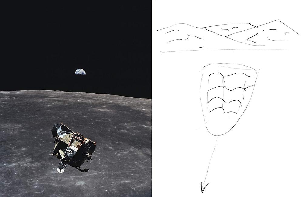 Apollo 11-Aufstiegsstufe (Vergleich)
